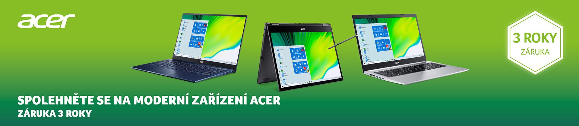 Záruka 3 roky - spolehněte se na moderní zařízení ACER