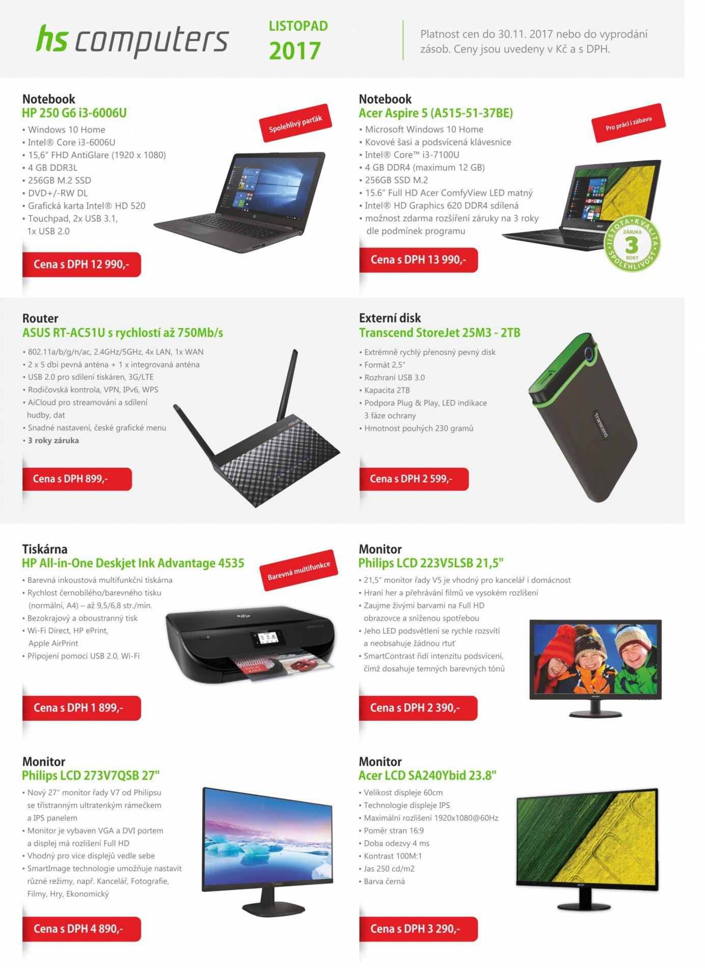 Akční nabídka produktů Listopad 2017
